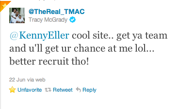 Tracy McGrady's response!
