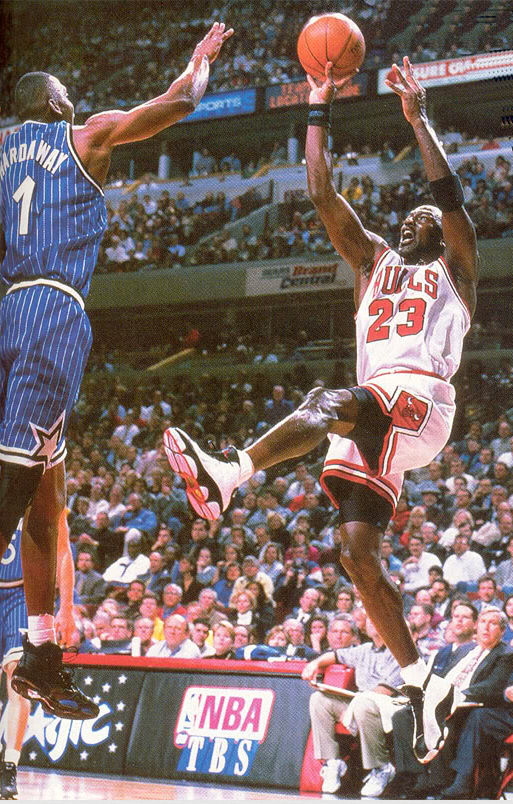 Jordan and his patented Fadeaway