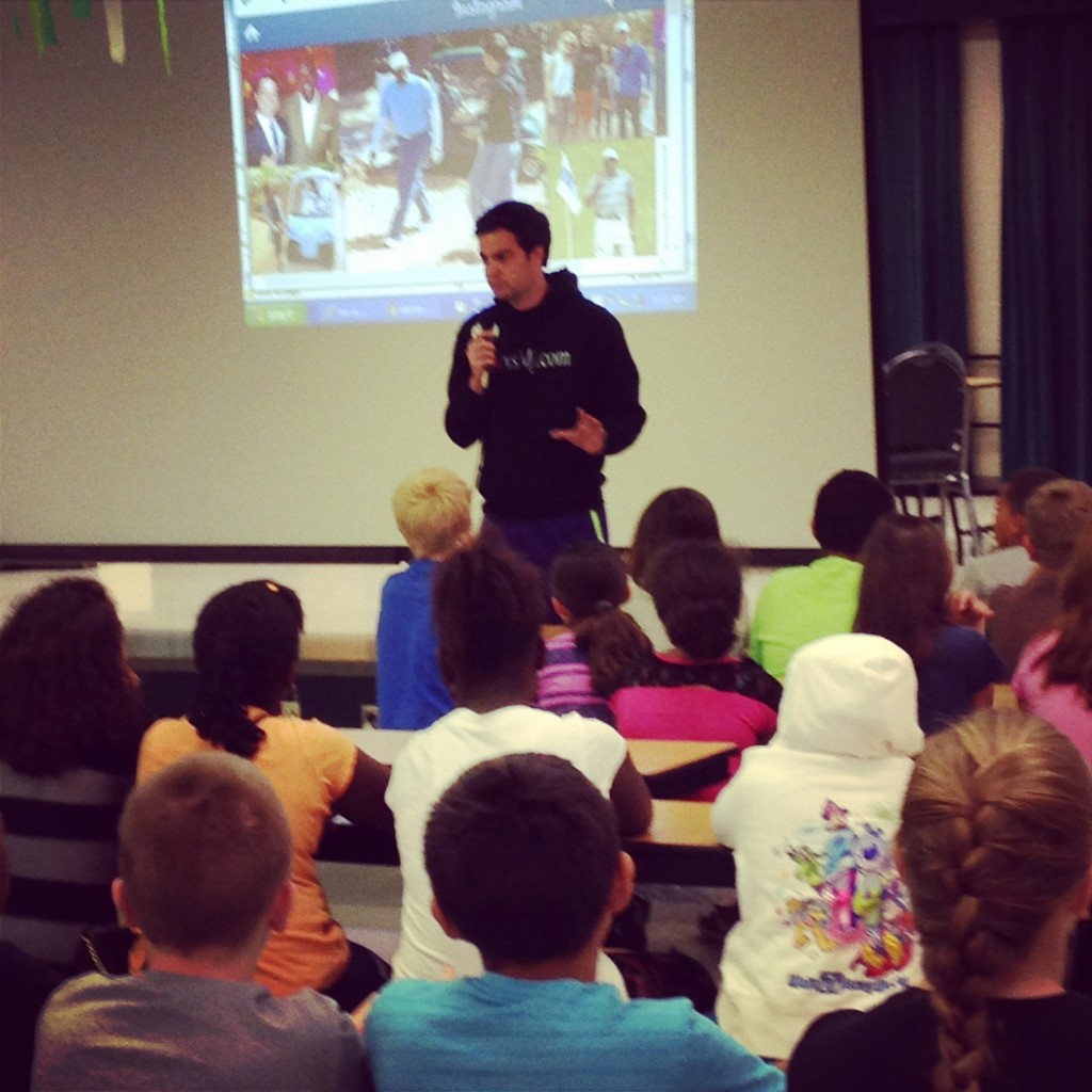 Speaking at Dillard Elementary (May 2014)