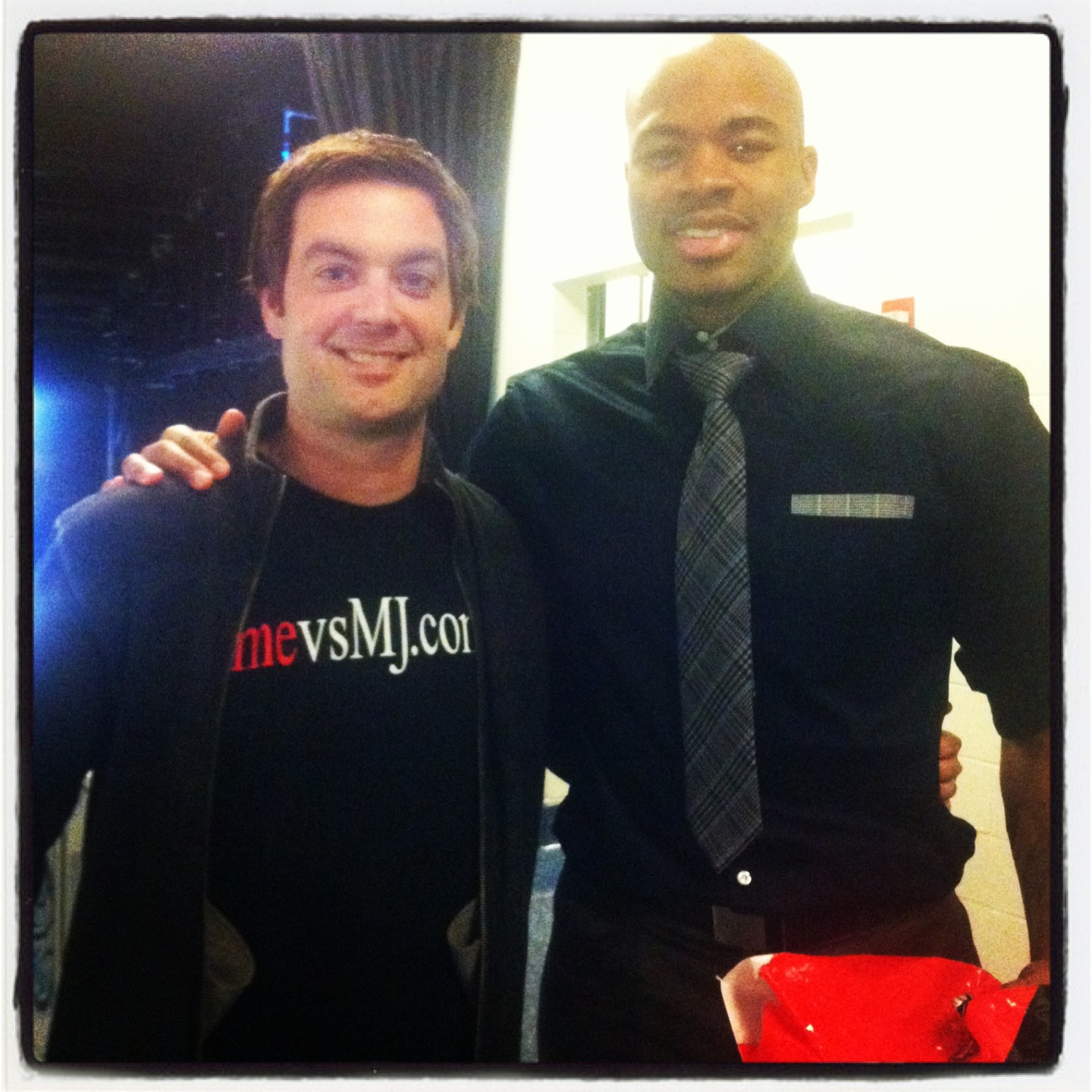 Me and Corey Maggette (Detroit Pistons)