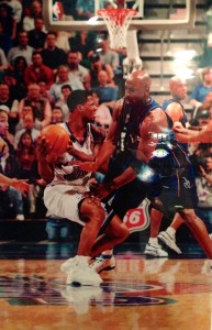 A personal picture DeShawn sent me of MJ guarding him.