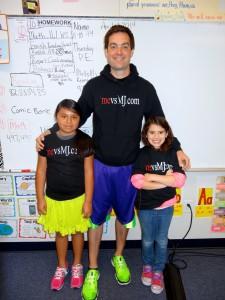 Kenny Eller with kids from Dillard Elementary