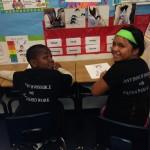 Kids from Dillard Elementary School wearing mevsMJ.com shirts