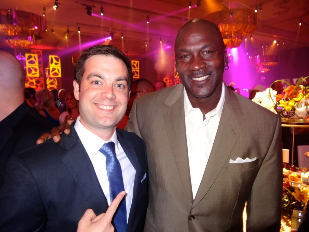 Me with Michael Jordan at the MJCI Gala. (Photo Credit: Marcus Jordan)