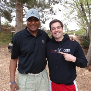 Me with Fred Whitfield (Bobcats President/COO)