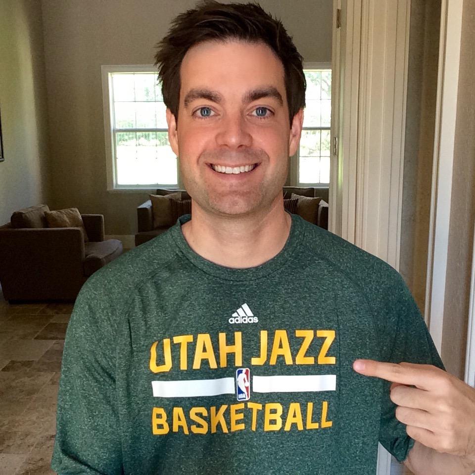 Wearing my new Utah Jazz gear with pride!