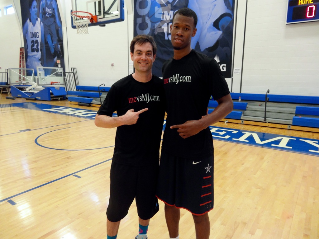 Me with Rodney Hood