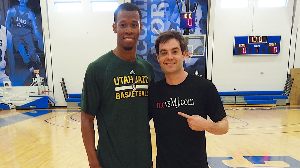 Me with Rodney Hood of the Utah Jazz