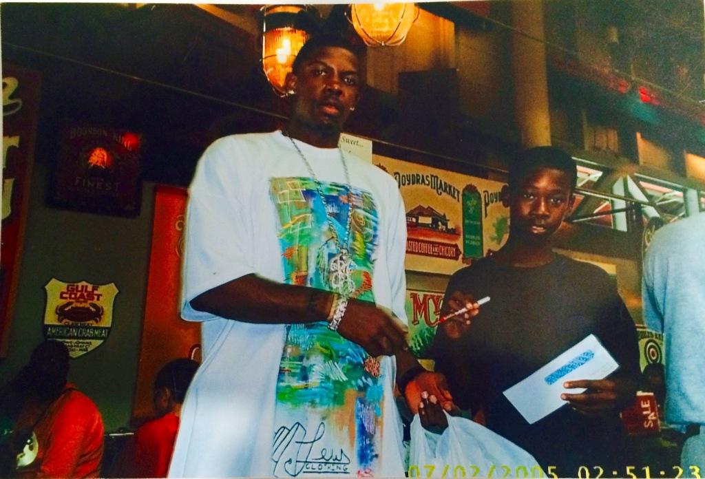 Rodney with Joe Johnson in 2005